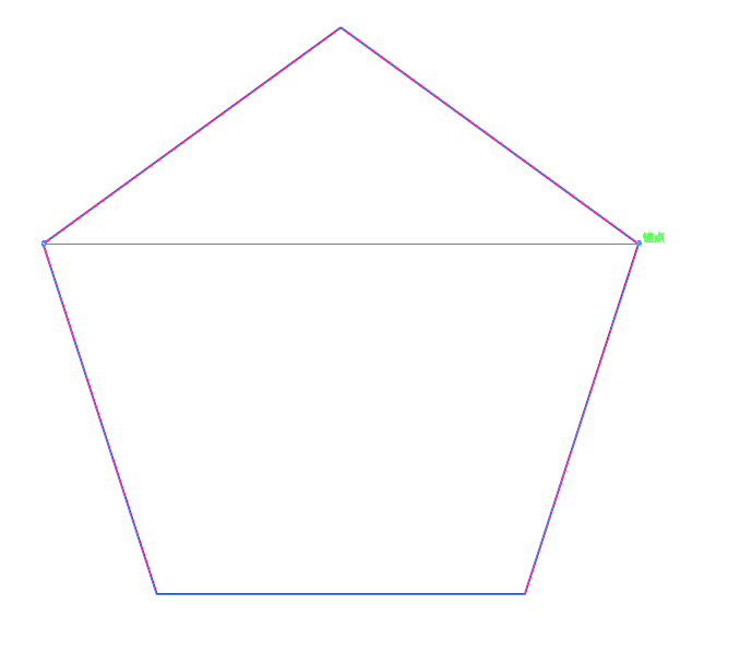 ai路径锚点-怎么在五边形里在画五角星,它们的锚点要重合