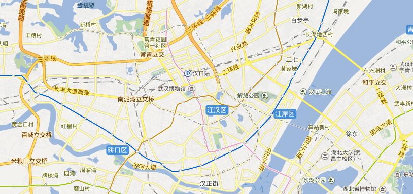 湖北武汉汉口详细地图?图片