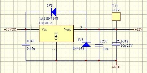 12v转5v电源电路图单片机用