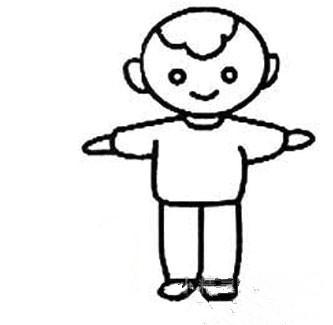 幼儿园小孩要画自己最简单怎么画男孩图片