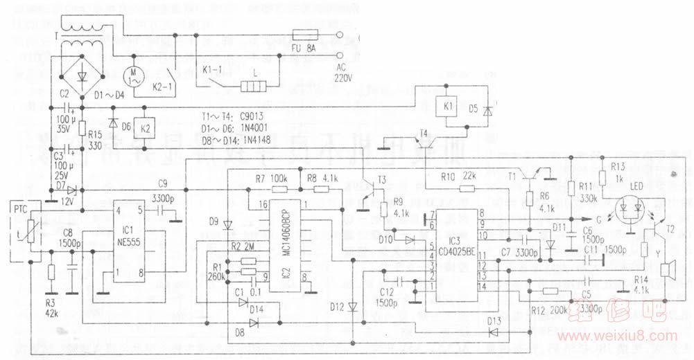 九阳jydz-7型豆浆机电路原理及检修 http://www.weixiu8.