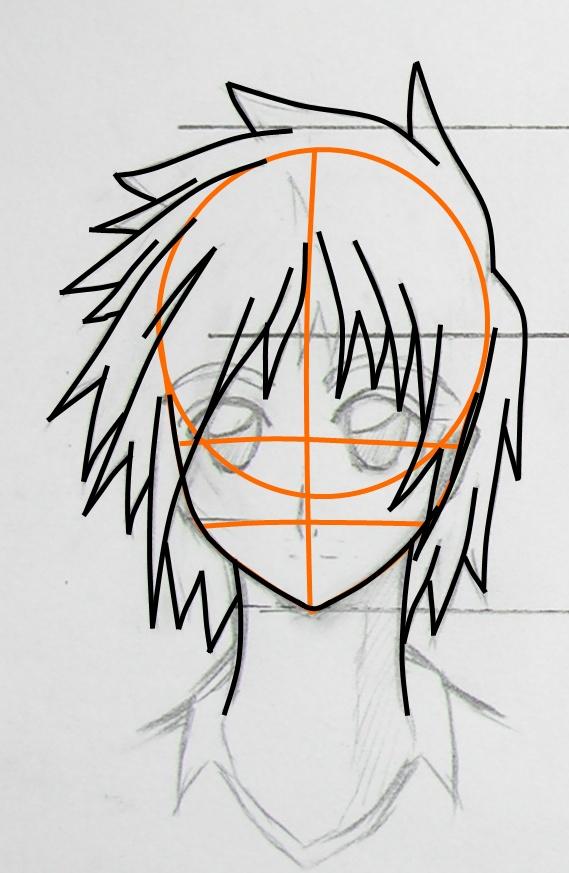 用手绘板画动漫人物,但是不知道该怎么分层,就是线稿,头发,衣服等.图片