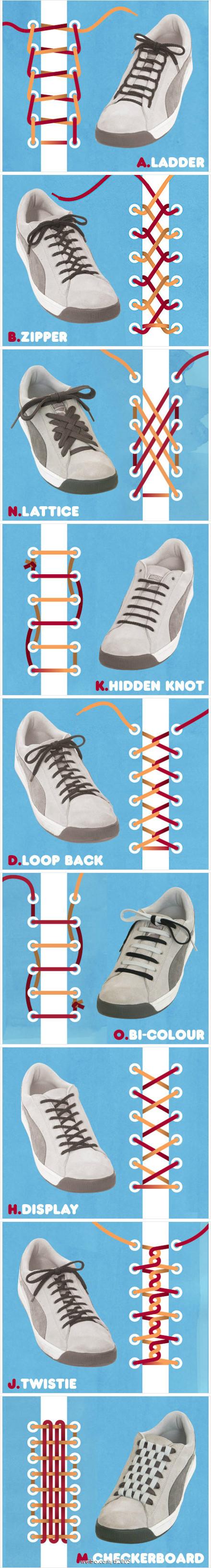 篮球鞋鞋带的穿法图解