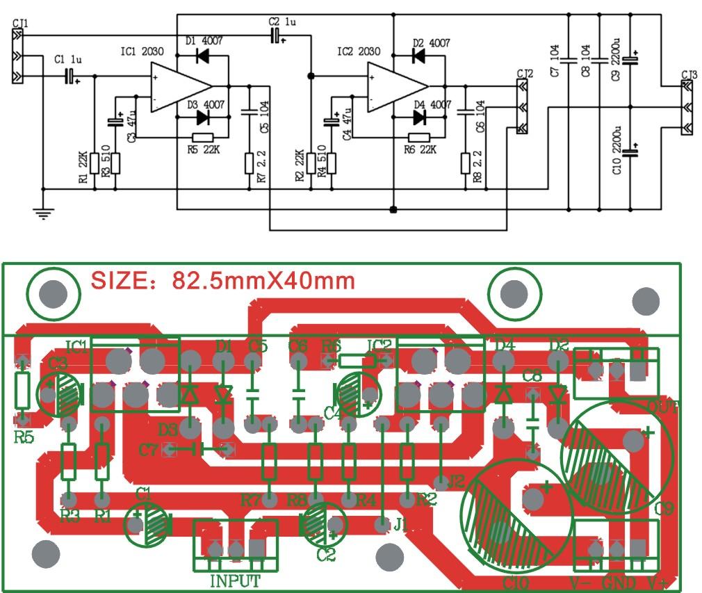 共同成长888 音响功放  tda2030双声道功放,电路简单,本人是生产音箱