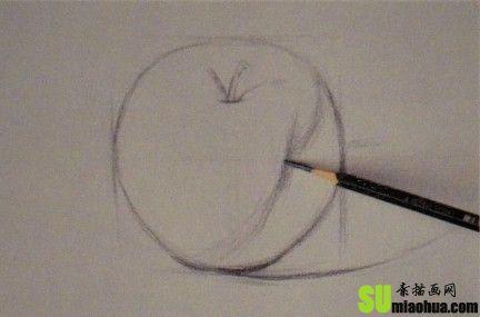 苹果的素描画法 要画的步骤