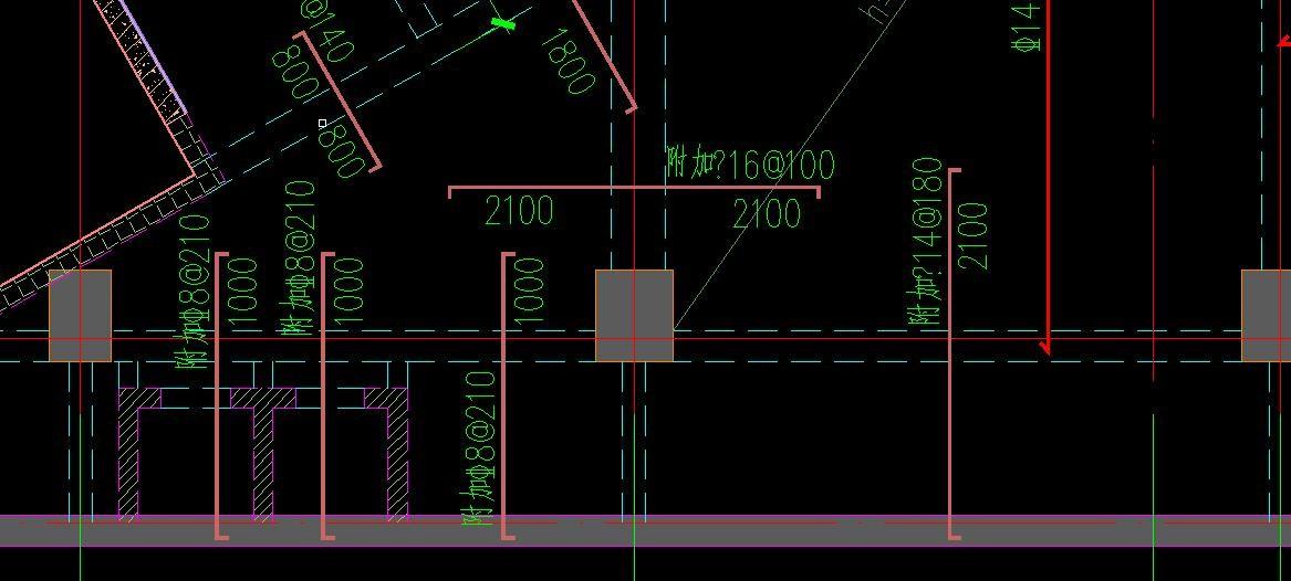 同一张CAD问题里面,图纸钢筋有的显示没图纸符号在张怎么天正两一个图片
