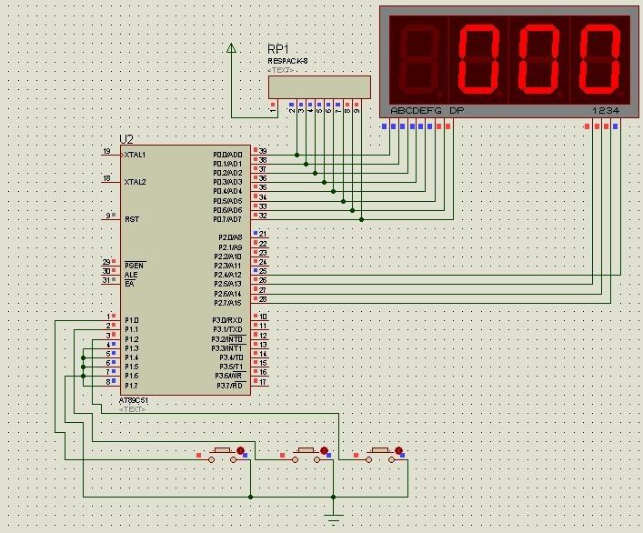 系统晶振频率为12mhz,利用定时计数器t0的方式1,并使用p1.