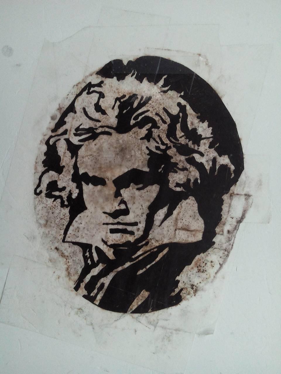 求一张贝多芬的版刻腹部黑白肖像画,也就是这风格痣图解图片
