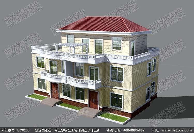 这是三层别墅效果图,如果建面小的话,还有单层,双层,各种设计.