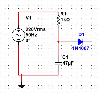 正弦波通过一个rc积分电路后再通过一个整流二极管的输出波形为什么还