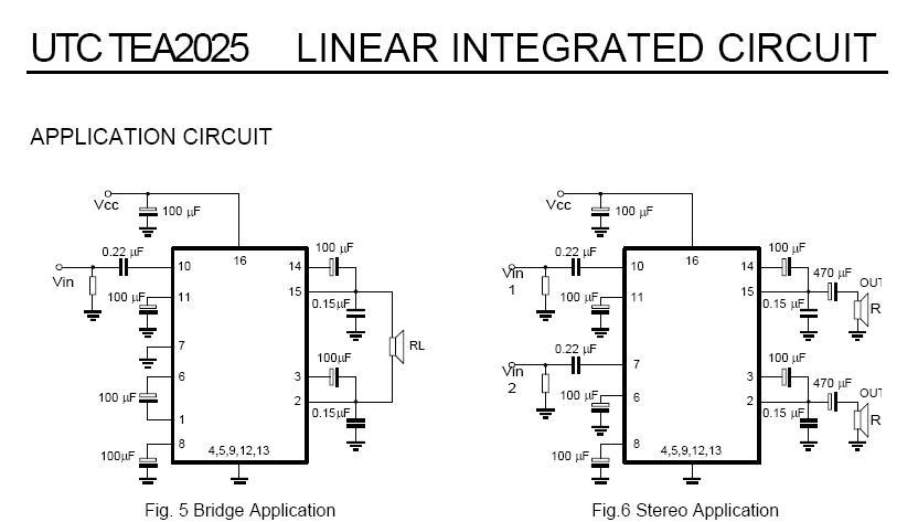 用tea20205b设计音响功放电路