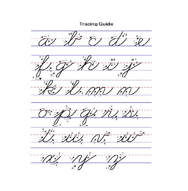 英式英语字母手写体图片