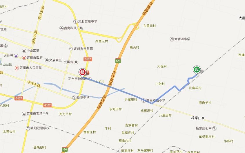 河北定州唐河规划图