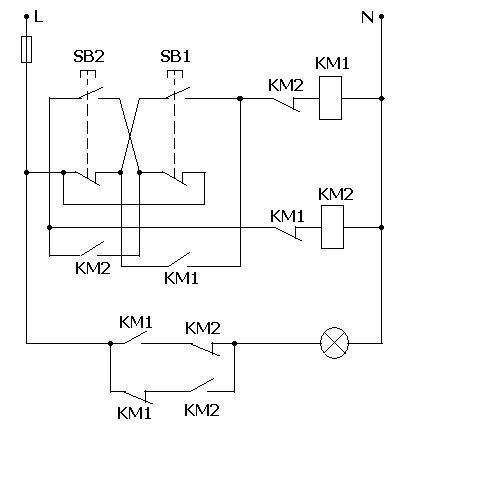 画出用2个接触器控制一个灯泡的并联电路图