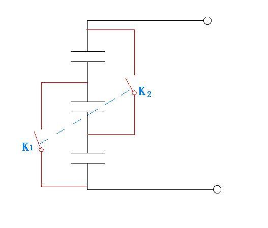 3个电容并联充电串联放电