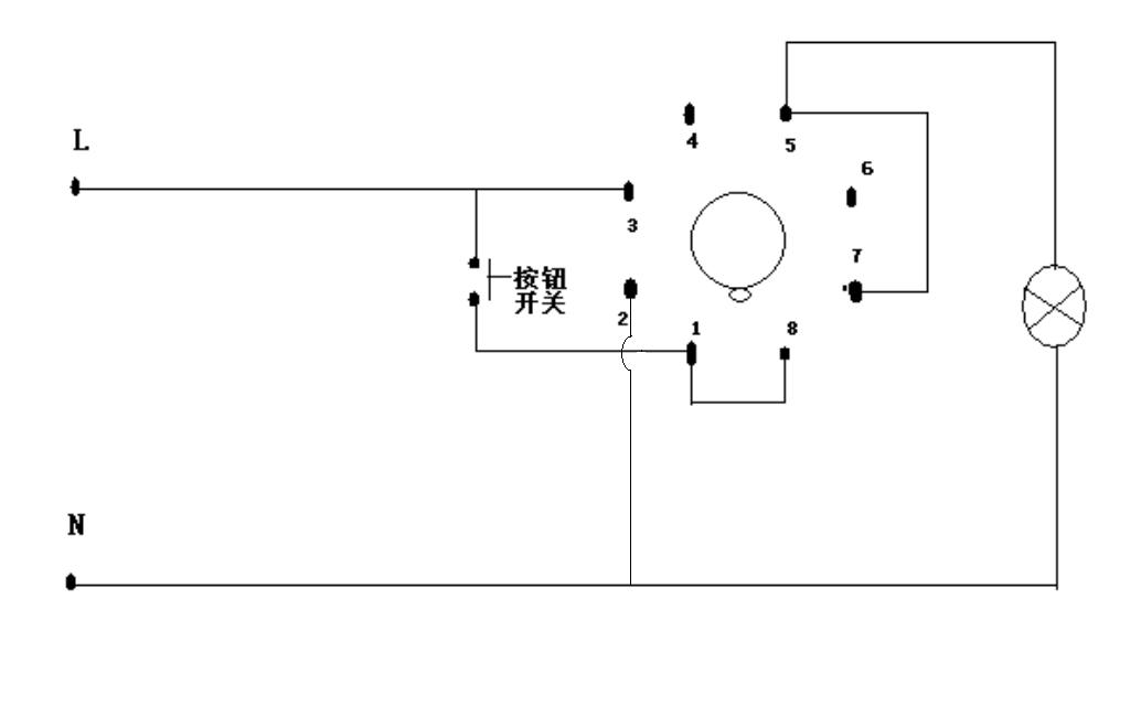 用时间继电器控制电灯,点动一次电灯十秒,电路怎么接?