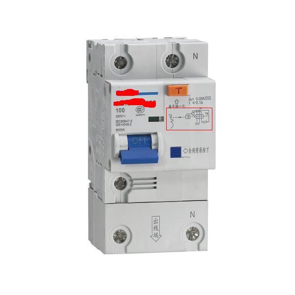 带漏电保护断路器的电路图中包含漏电保护电路,如下图: 普通断路器