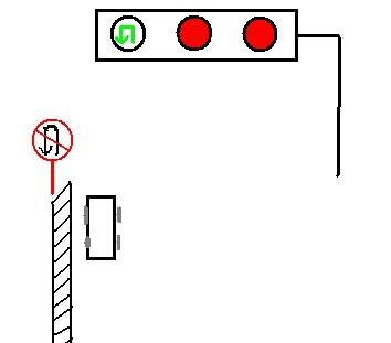 """十字路口交通信号灯显示""""绿色""""可以掉头,但旁边却有""""禁止掉头""""的牌子."""
