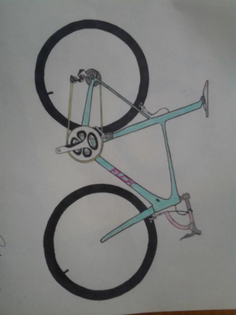 自行车怎么画?图片
