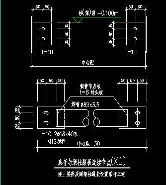 钢结构厂房外挂墙板与墙梁怎么连接,刚性系杆和柱子的