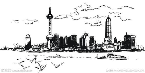求世界各标志性建筑的钢笔画