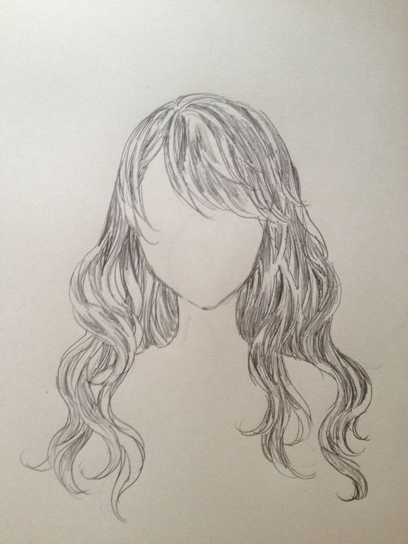 动漫卷发少女手绘