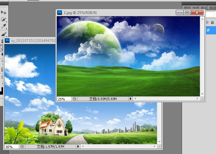 方法:使用图层蒙版. 1,用ps 软件打开两个图片,双击图层进行解锁.