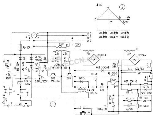 求辨别,下图是否无刷发电机励磁调节器原理图呢?求高手,求答案!