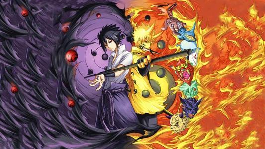 火影忍者里鸣人被抽走九尾,四代给了他另一半九尾.