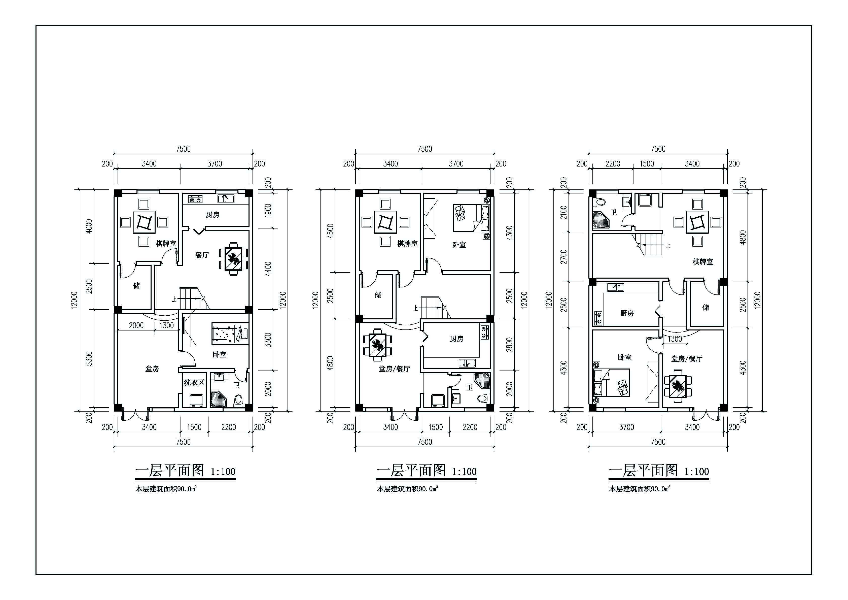 简易小楼平面图