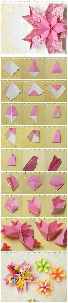 如何diy手工纸折花方法图解