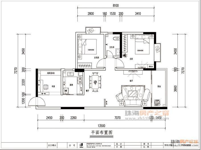 80平米室内平面设计图纸?