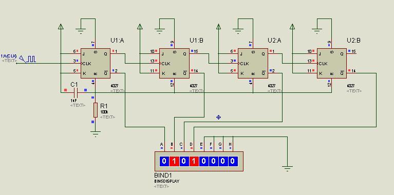 如何用jk触发器设计一个四进制计数器
