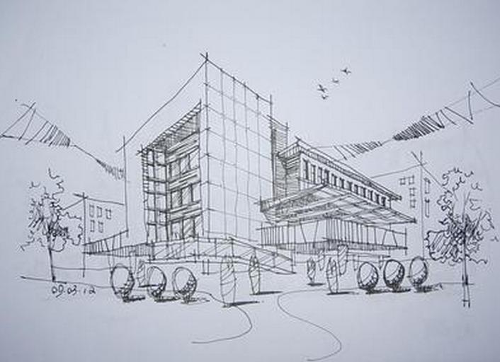 建筑速写的画有哪些简单图片的