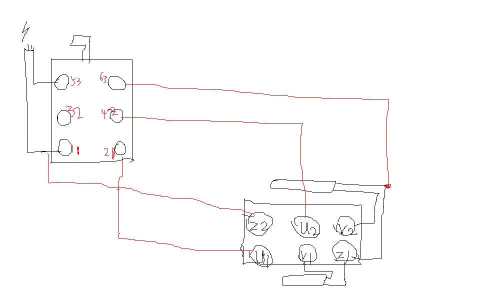 倒顺开关接线图 我的是单相电机的要详细的接线方法谢谢了