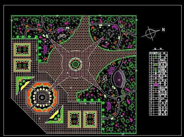 如何画绿化施工设计图