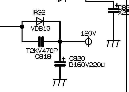 我想查长虹彩电pf21600主板电路图c813电容和c818电容