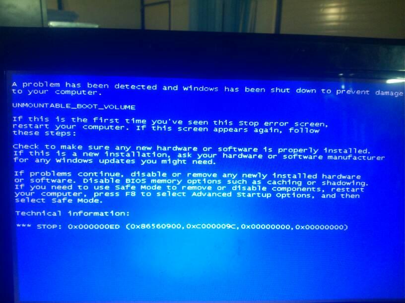 我的华硕笔记本电脑一开机就蓝屏.装的系统是xp,每次.