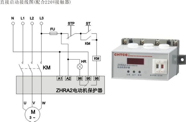 380v电机综合保护器怎么接线 380v的接线与220v的接线原理是一样的