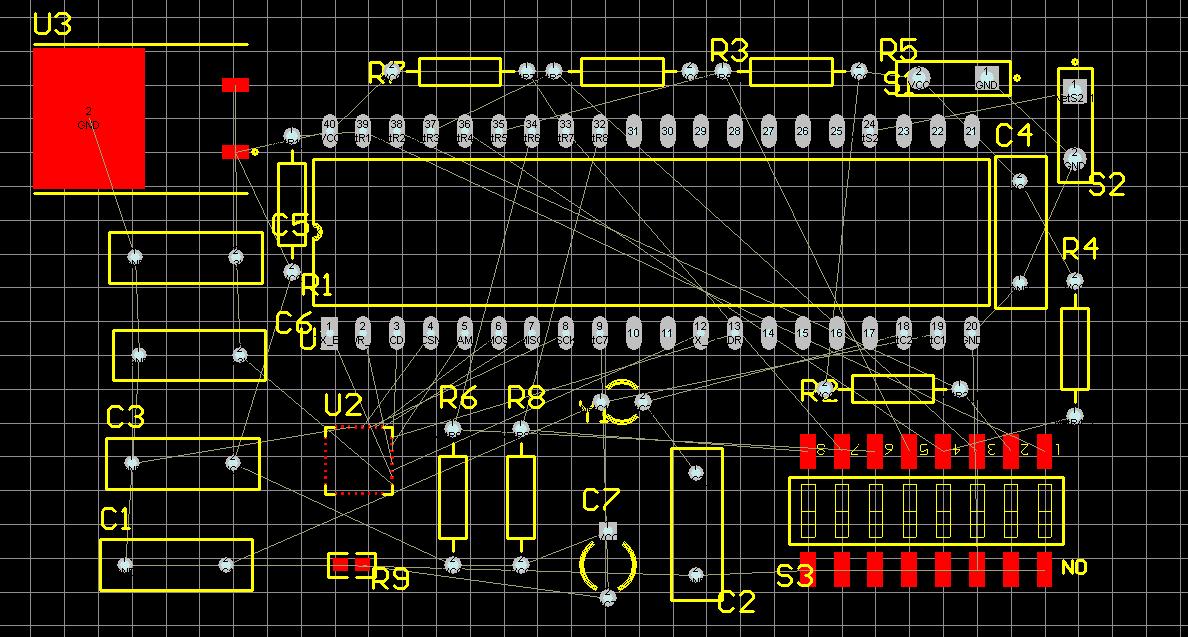 dxp第一次做复杂的电路图设计,请高手看看原理图和已转换的pcb图有