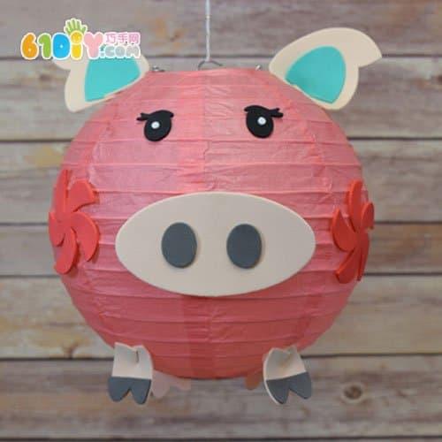 猪花灯制作步骤