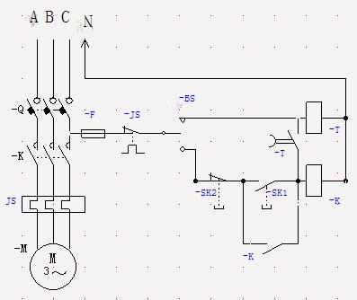 求jss48a 系列时间继电器 控制三相电机接线图(急需)