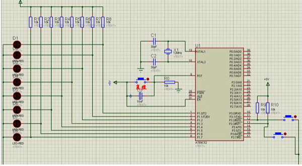 用stc89c52rc驱动24个led流水灯 求电路图不求c程序
