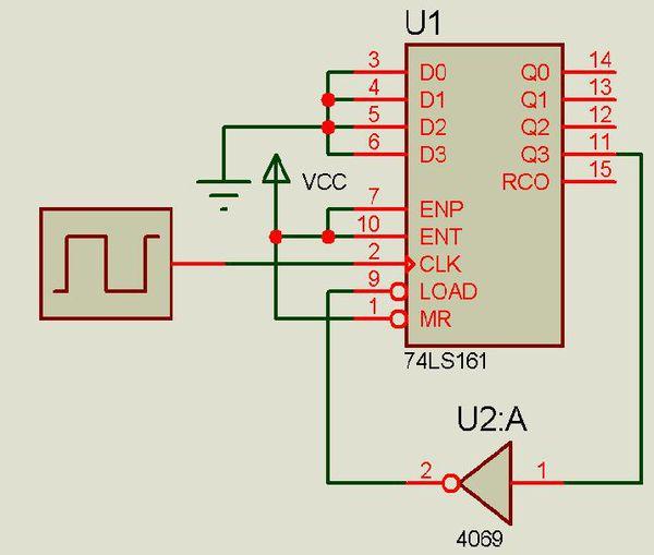 如何用74ls161来实现7进制的计数器电路图?