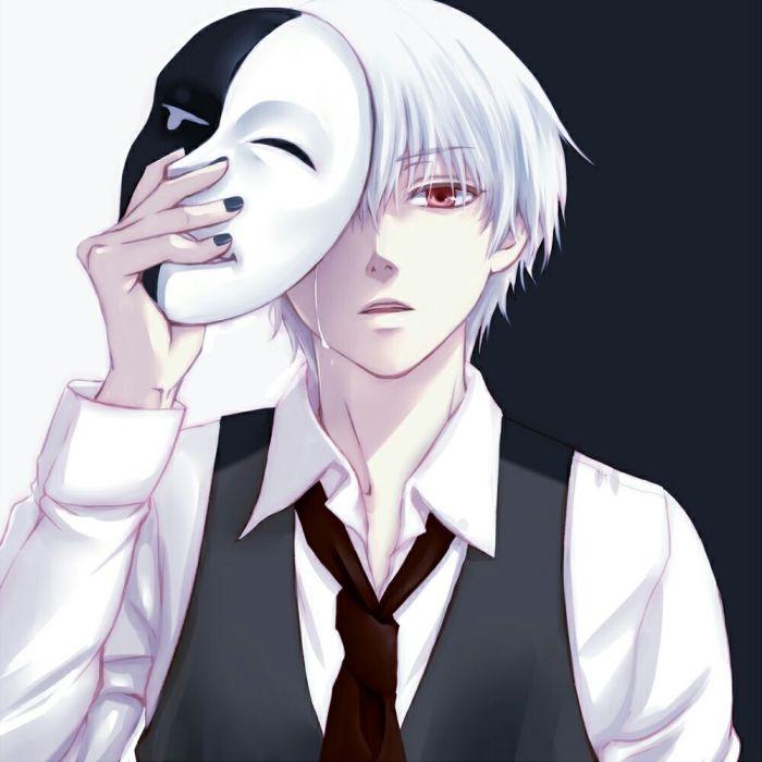 戴面具伤感的动漫头像