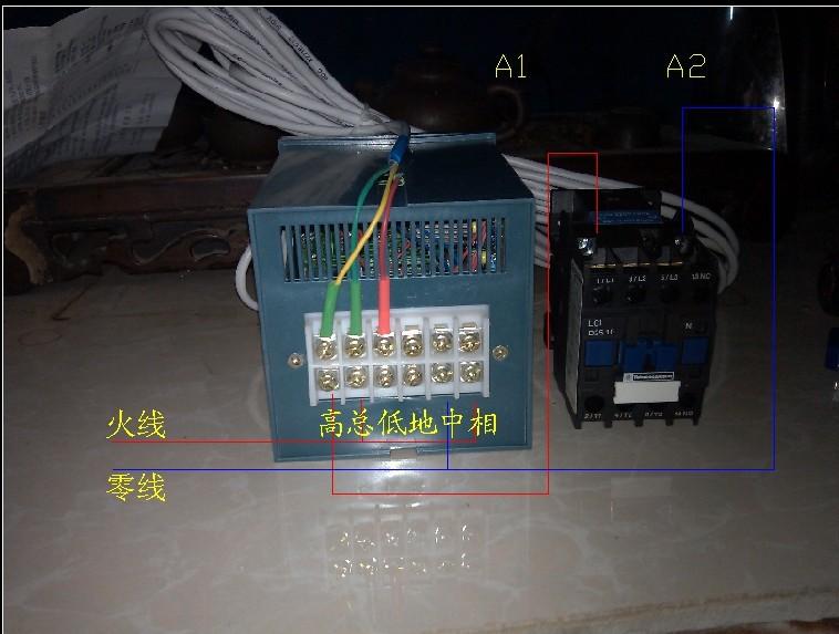 如何接温控开关和交流接触器配套使用的接线图