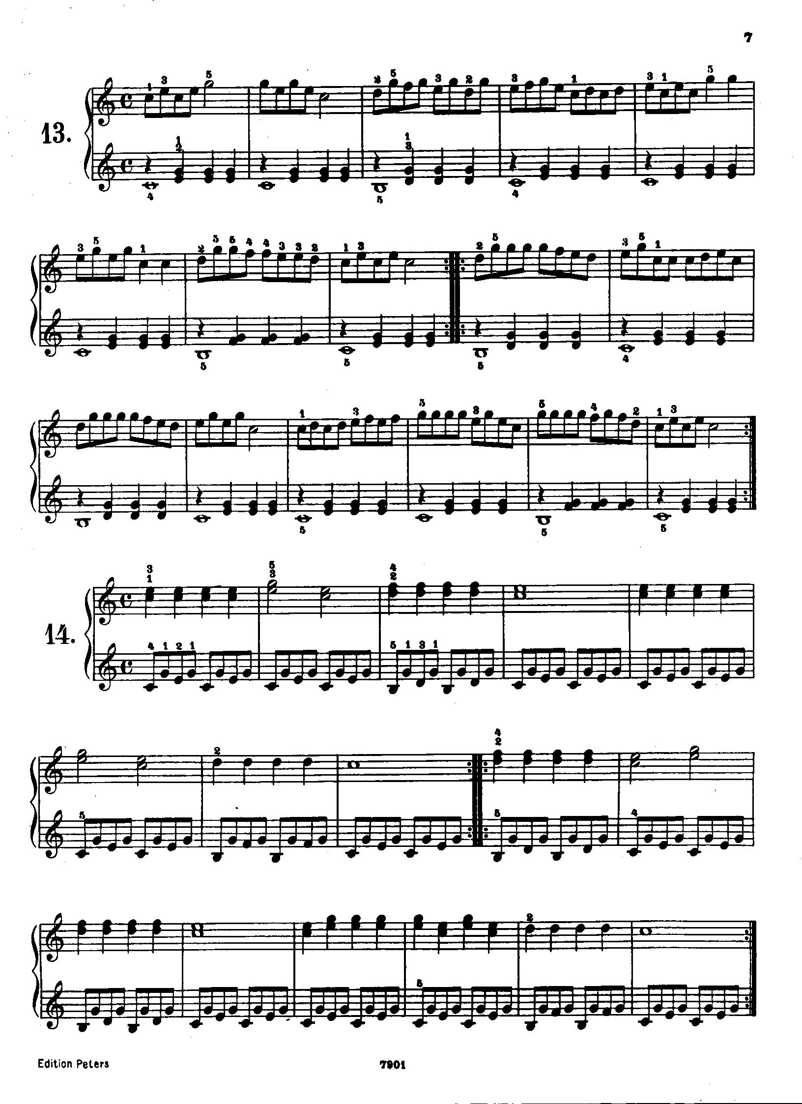 车尔尼599 第十三首的钢琴谱