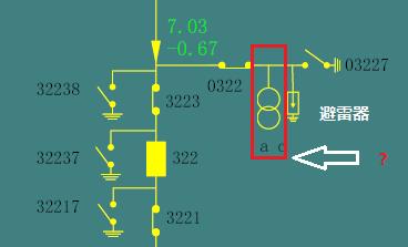 35kv 变电站主接线图 避雷器旁边的变压器符号是什么?