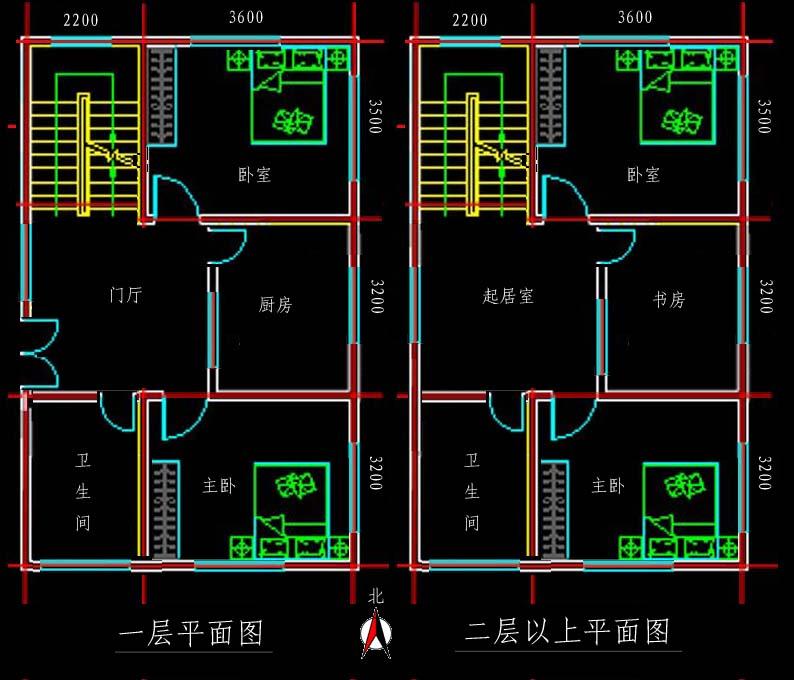 新农村80平方房屋设计图