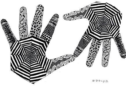 求黑白画,唯美,不能太难,十多岁能画就行,要有创意,满意采纳!图片